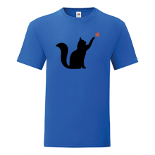 T-shirt Cat playing with heart-S46