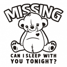 T-shirt Missing teddy bear-S49