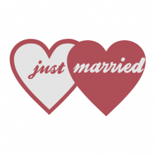 T-shirt Just married-S61