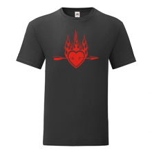 T-shirt Heart flames arrow-S66