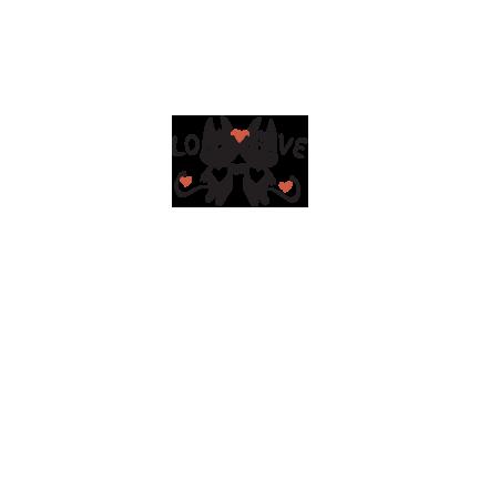 T-shirt Love cats-S68