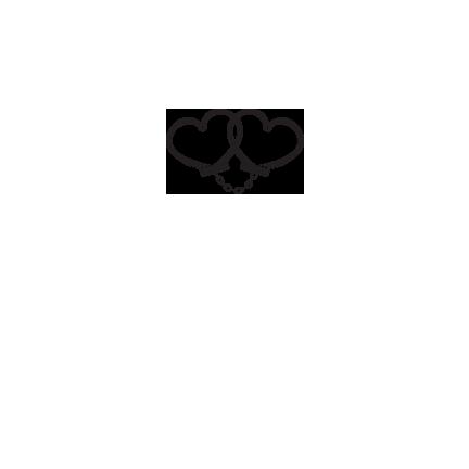 T-shirt Heart handcuffs-S70